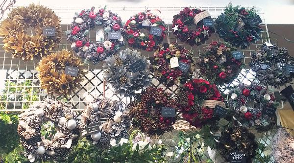 花びしクリスマス2017完成品のリース